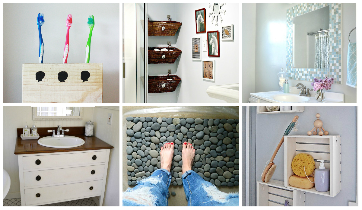 9 diy bathroom ideas diy thought for Bathroom decor ideas images