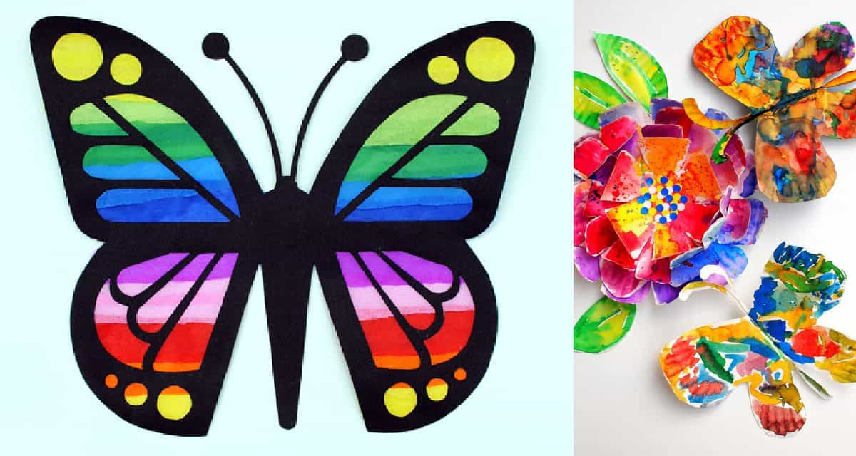 12 Diy Butterfly Arts & Crafts