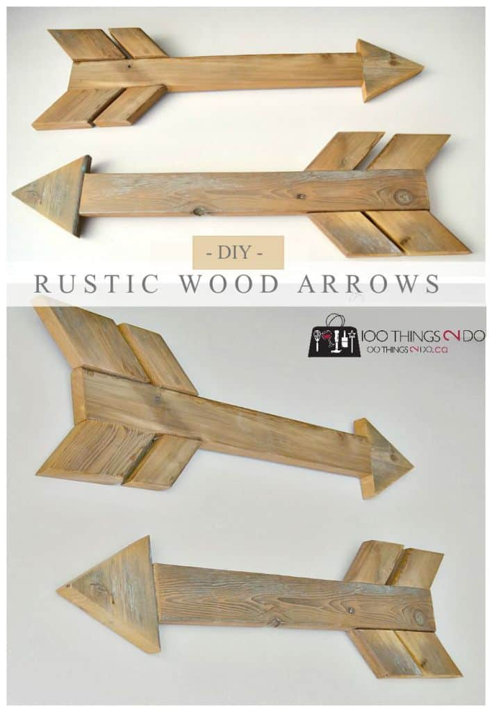 once you get the hang of making these rustic wood arrows you will be able to make them in next to no time we love them as they are as wall art