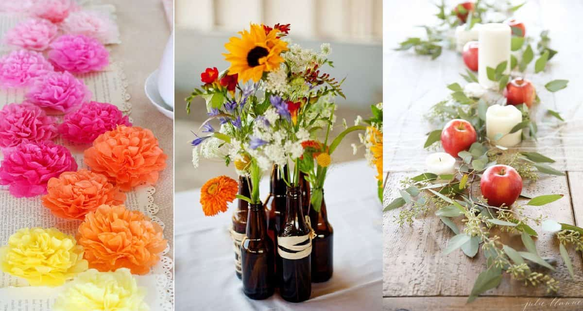 5 Stunning but Simple DIY Table Centerpieces